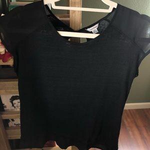 Calvin Klein Black Linen Sleeveless Top